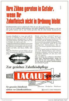 Original-Werbung/ Anzeige 1969 - 1/1-SEITE - LACALUT ZAHNCREME - ca. 150 X 230 mm