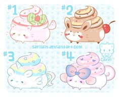 [Open!] Poopies #1 - 4 // with Speed Paint! by Sarilain on DeviantArt