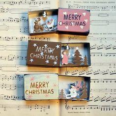 64 Ideas Diy Box Crafts Decor Christmas Decorations For 2019 Christmas Angels, Christmas Art, Christmas Greetings, Christmas Decorations, Christmas Ornaments, Christmas Countdown, Homemade Christmas, Matchbox Crafts, Matchbox Art