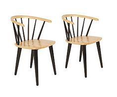 2 Chaises JAPPE bois, naturel et noir - L54