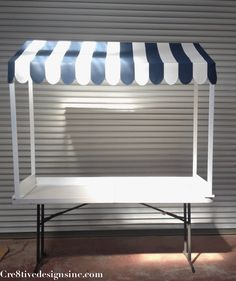 canopy tabletop. Add sides for shade