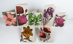 YEE HAW FARMERS MARKET FLOWERS Cards Pack of 7 With Envelopes