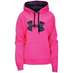 Hot pink under armour sweat shirt