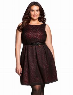 Contrast Lace Dress | Plus Size Date & Cocktail Dresses | eloquii by THE LIMITED