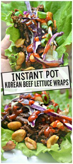 Instant Pot Korean shredded beef lettuce wraps – Make the Best of Everything Korean Lettuce Wraps, Beef Lettuce Wraps, Instant Pot, Shredded Beef Recipes, Beef Wraps, Pulled Beef, Beef Empanadas, Meat Salad, Korean Beef