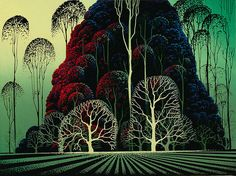 Eyvind Earle (April 1916 – July was an American artist, author and illustrator, noted for his contribution to the background illustration and. Art And Illustration, Eyvind Earle, Ouvrages D'art, Magic Realism, Art Database, Slice Of Life, American Artists, Love Art, Art Images