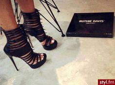 """Ruthie Davis """"Jolie"""" Spiky Gladiator Sandals."""
