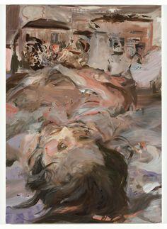 """Nine Nine Nine""   2009  oil on canvas  196 x 140 x 4 cm / 77.2 x 55.1 x 1.6""  Cecily Brown"