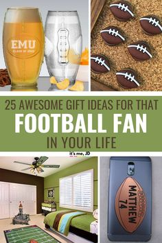 25 Awesome Gifts For That Football Fan In Your Life Christmas Gifts For Sports Fans, Christmas Gift Exchange Games, Gifts For Football Fans, Family Christmas Gifts, Sports Gifts, Football Parties, Sports Mom, Christmas Stuff, Awesome Gifts