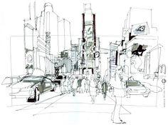 Urban Sketchers: Meet the correspondents: NEW YORK > Greg Betza