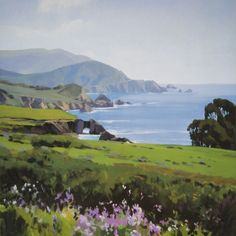 Big Sur, Spring lithograph from Marcia Burtt Gallery