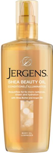 Jergens Shea Beauty Oil combines the powers of Shea butter and Argan oils to give you beautiful, healthy looking skin.