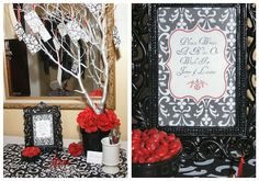 A Farewell Dinner Party {Black, White & Red} — Celebrations at Home#
