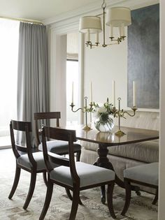 A dining room by Phoebe Howard. The store Mrs. Howard is more classic, upscale and traditional, while Howard's Max & Company offers more casual and affordable furnishings for a younger crowd.