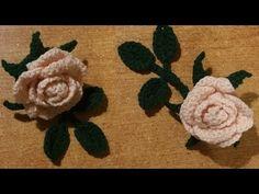 Tutorial rosa all'uncinetto a dieci petali - YouTube
