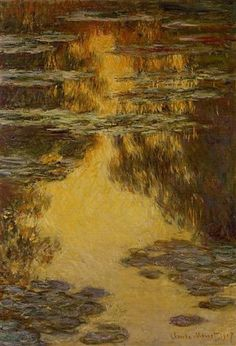 The Antelucan Hourglass - artist-monet: Water Lilies, Claude Monet Monet Paintings, Impressionist Paintings, Landscape Paintings, Claude Monet, Pierre Auguste Renoir, Lily Painting, Oil Painting On Canvas, Artist Monet, Monet Water Lilies