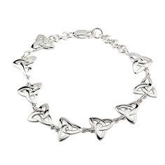 Sterling Silver Trinity Knot Bracelet