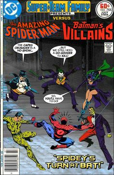 Super-Team Family: The Lost Issues!: Spider-Man Vs. Batman's Villains