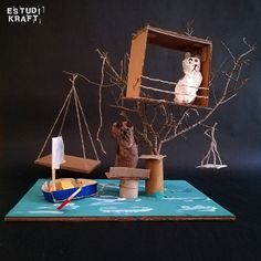 """Model about the book """"The tree house"""" / Maqueta del llibre """"La casa del árbol"""". Join us on www.facebook.com/estudikraft 12 Year Old, Crafts For Kids, Workshop, Facebook, Projects, House, Home Decor, Crafts For Children, Log Projects"""