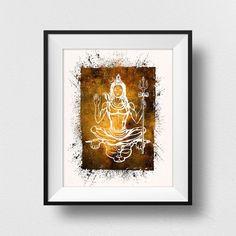 Shiva Hindu, Hindu Art, Native American Headdress, Yoga Decor, Another A, Tribal Decor, Life Paint, Feather Art
