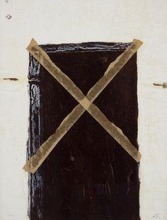 """Antoni Tàpies, La grande porte, 1972. 361/4"""" x 263/4"""""""