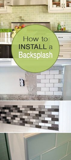 How to Install a Backsplash • Learn how to install a kitchen or bathroom backsplash with tutorials from these talented bloggers, complete with instructions and tips! #howtoinstallabacksplash #installabacksplash #diybacksplash #backsplashinstallation