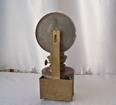 Antique Rustic Oil Lamp Primitive Decor Tin by CynthiasAttic