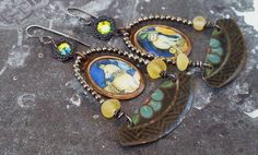 Assemblage Earrings 'Fellow Travellers' Picture by Aprilands