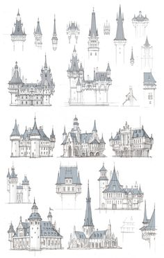 Fantasy City, Fantasy Castle, Fantasy Map, Environment Concept Art, Environment Design, Site Art, Building Drawing, Fantasy Concept Art, Minecraft Designs