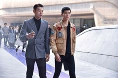 Street Style. Seoul Fashion Week. Photo by Nicholas of Garbagelapsap. The Trotteur is curated by @TheRealPJSmith.  menswear mnswr mens style mens fashion fashion style streetstyle