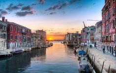 Sunsets...this reminds me of Murano, across the water from Venice, Italy!