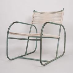 Natural patina on this early Bronze Walter Lamb lounge chair.