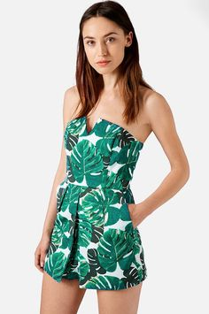 Palm leaf patterned romper from H&M
