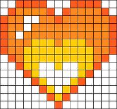 Lewis Heart Ghost - Mystery Skulls Perler Bead Pattern / Bead Sprite