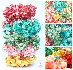 Miicakes: Pochoclos de colores / Popcorn color !
