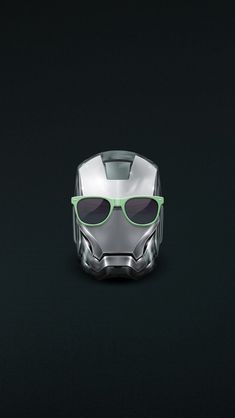 Iron Man Helmet Summer Glasses #iPhone 5 #Wallpaper