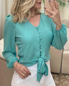 Chic Type, Sleeve Styles, Ideias Fashion, Chiffon, Instagram, Blouse, Long Sleeve, Sleeves, Women