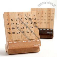 Desk Puzzle Wooden Monthly Calendar