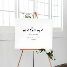 Welcome To Our Wedding Sign Template, Printable Welcome Sign, Wedding Welcome Sign, Welcome Sign Ins Wedding Signage, Wedding Programs, Wedding Themes, Wedding Venues, Wedding Decorations, Wedding Ideas, Wedding Props, Wedding Reception, It's All Happening