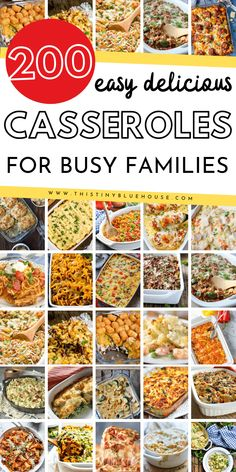 Here is the ultimate collection of easy and cheap casserole recipes that are perfect for easy fall and winter dinner. Divided by protein this massive collection of delicious casserole's is guaranteed to make dinners a breeze on busy weeknights this fall and winter. #easydinners #casserolerecipes #easycasserolerecipes #easydinnerideas #easydinnerideasforfamilies #easysuppers #simplecasserolerecipes Fun Easy Recipes, Gourmet Recipes, Crockpot Recipes, Cooking Recipes, Healthy Recipes, Fall Recipes, Chicken Recipes, Kraft Recipes, Broccoli Recipes