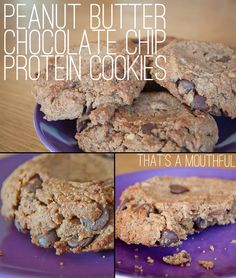 Peanut Butter Chocolate Chip Protein Cookies Recipe! ~ at TheFrugalGirls.com ~ #cookie #recipes