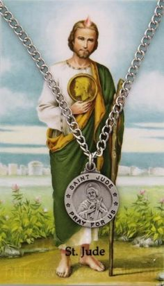 St. Jude Pewter Medal with Prayer Card : PC0052
