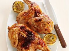 Broiled Lemon-Garlic Chicken from #FNMag #Protein #MyPlate