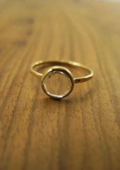 Melissa Joy Manning ring: Clear Rose Cut Diamond Ring