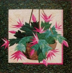 Christmas Cactus paper-pieced quilt pattern by Designers Workshop