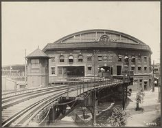 vintage everyday: Vintage Photographs of Street-railroads in Boston, Massachusetts before 1940s Boston Elevated Railroad. Sullivan Square Station. 1913.