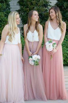 Such a gorgeous flow-y skirt, it will pair well with so many different tops. I love the fact that it is a play on the classic bridesmaid dress. Would be beyond perfect for an alternative bride. Revelry - Skylar Skirt, $125.00 (http://wedding.shoprevelry.com/Revelry-bridesmaid-dresses-and-separates-tulle-skylar-maxi-skirt/)