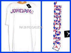 RARE MEN'S SIZE 3XL XXXL NIKE JORDAN GO TWO THREE TEE T-SHIRT RED WHITE BLUE USA #NIKE #GraphicTee