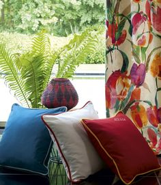 Marennes and Bolivia are the perfect match of plain fabric and a print.  Leaves is a stunning digital print on a beautiful cotton base.  #windfabrics #windfabric #windexclusivedesign #windexclusive #winddesign #fashion #interiordesign #interiordesigner #cushion #decoration #homefashion  #decorator #designer #interiordesigners #interiordecor  #interior  #windtextiles #textiles #home #luxury #homedecor #homedecoration  #colour   #designlife #lifestyle #cotton #textiles #curtains #fabric