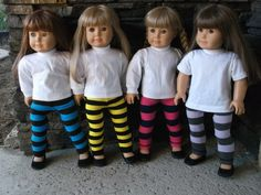 American Girl Doll Clothes  Doll Knit Leggings by TheTrendyDoll, $7.00